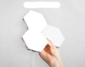 Lâmpada Hexagonal Criativa