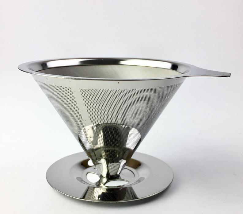Coador De Café Reutilizável Em Aço Inoxidável