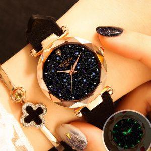 Relógio Feminino Céu Estrelado Nova Versão 2019