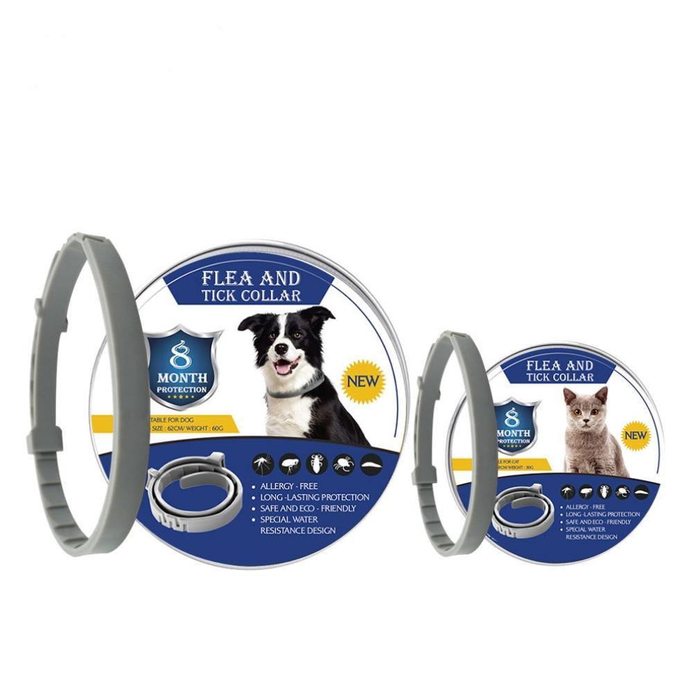 Coleira Antipulgas e Carrapatos Para Cães e Gatos 8 Meses De Proteção