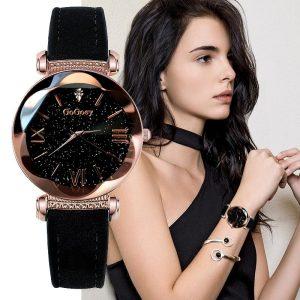 Relógio Luxo Feminino Céu Estrelado Diamante