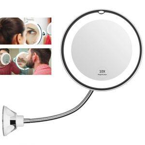 Espelho Flexível 360° Led - Espelho Maquiagem 10X