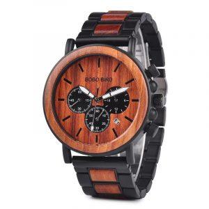 Relógio Madeira Eco Luxo WP09