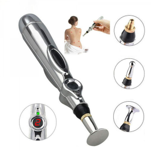 Caneta elétrica de acupuntura, instrumento terapêutico massageador para alívio de dor, relaxamento corporal