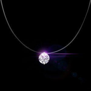 Gargantilha Invisível de Cristal