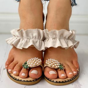 Sandália Floral Ortopédica