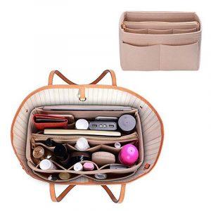 Bolsa de feltro para viagem, bolsa portátil para cosméticos