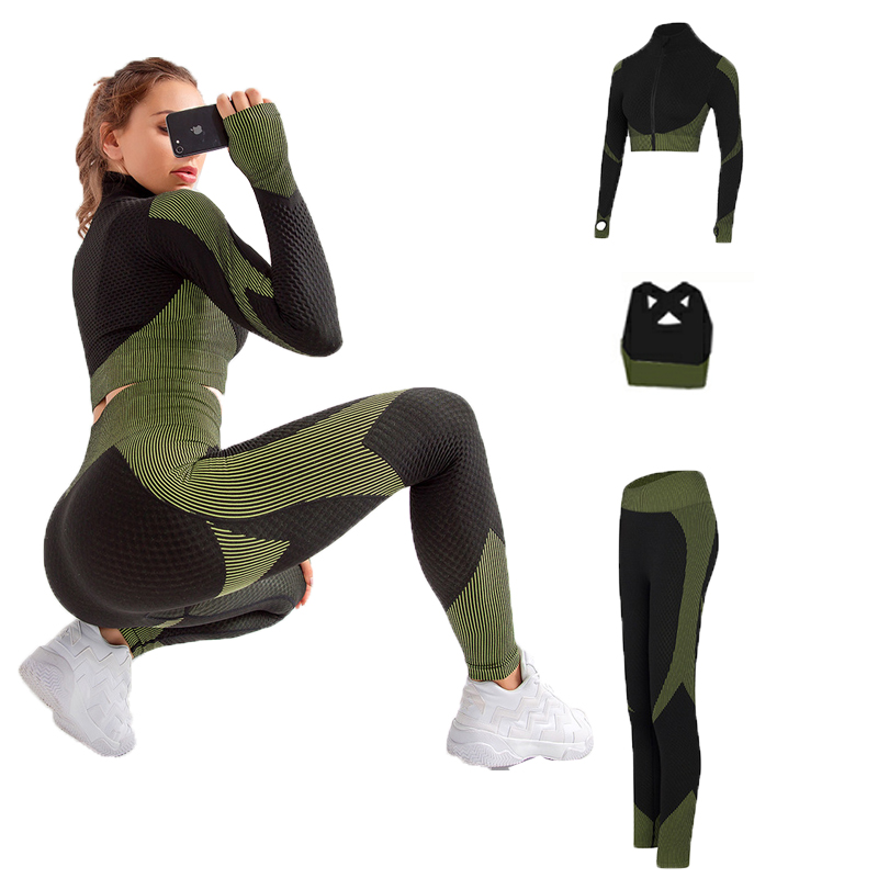 Top Fitness e Legging Premium - Verde - M