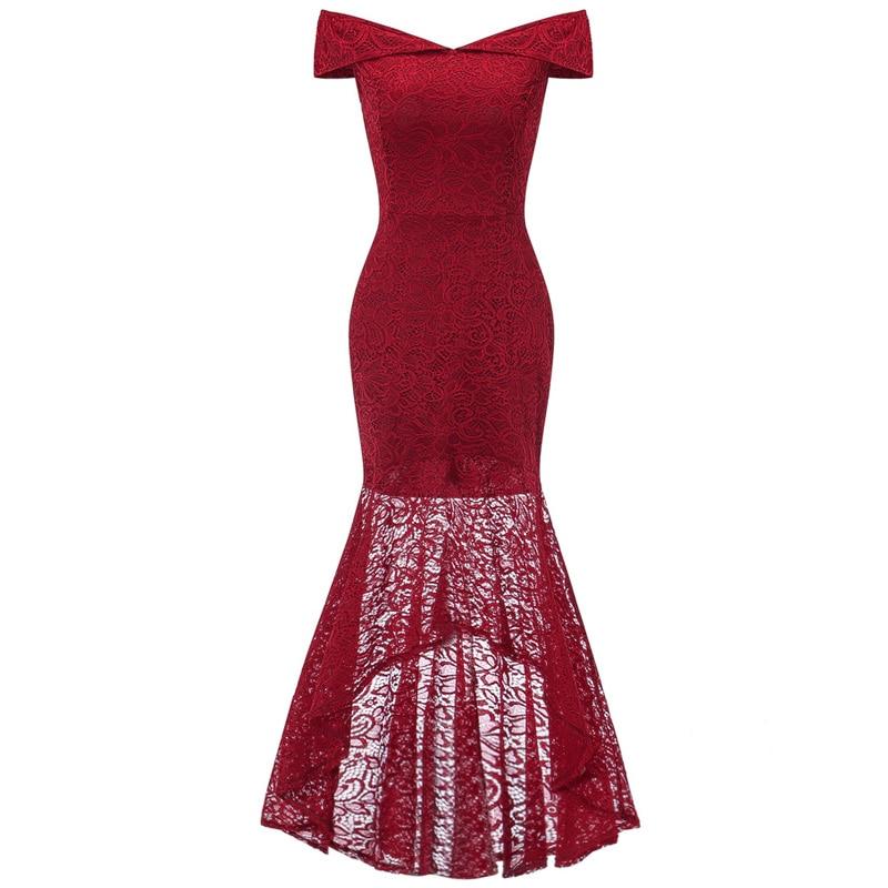 Vestido de Festa Frente Curto Com Alça e Laço - Vermelho