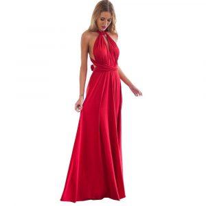 Vestido Longo Para Festa - Vermelho - M