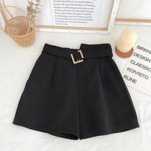 Shorts Feminino Cintura Alta - Preto - M