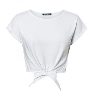Camiseta Casual Lisa Primavera Verão Feminina