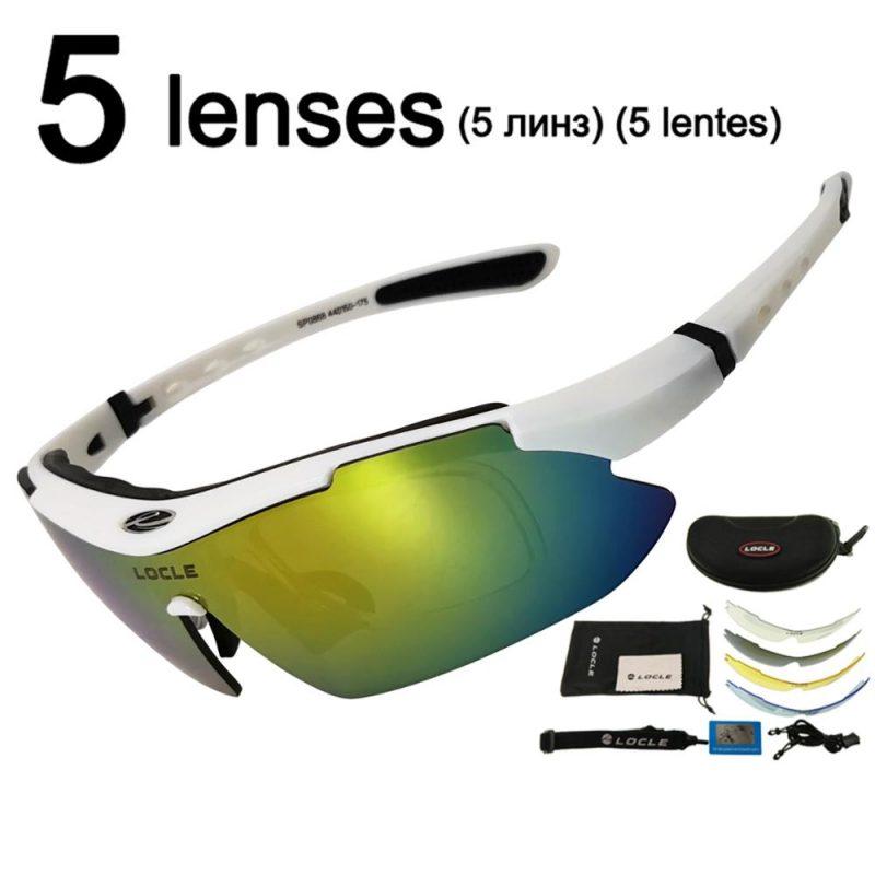 Óculos de Ciclismo UV400 Polarizado Com 5 Lentes
