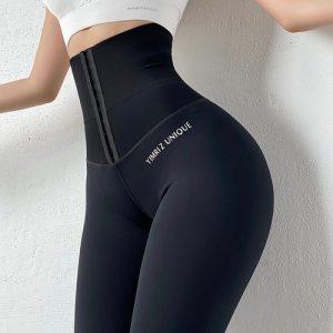 Calça Strap, Calças de Yoga, Leggings Cintura Alta Com Compressão