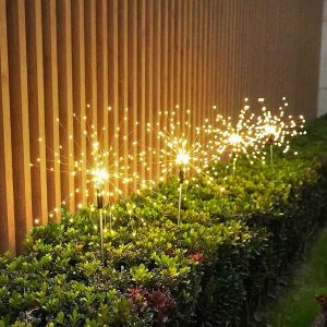 Luz Solar Fogo de Artifício Frete Grátis