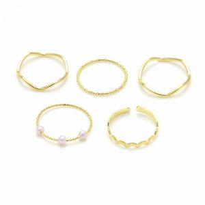 Anéis Dourados Femininos