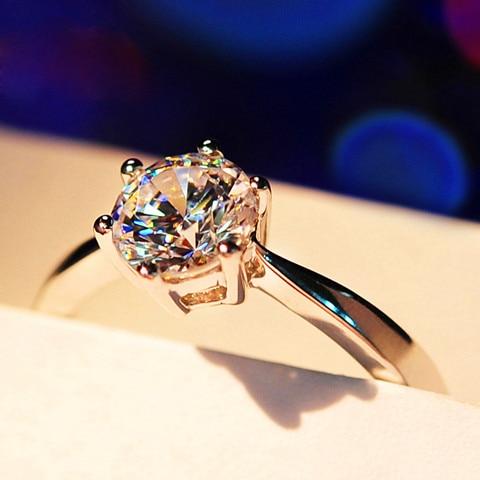 Anel de Diamante Prata