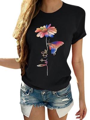 Camiseta Feminina Borboleta Colorida