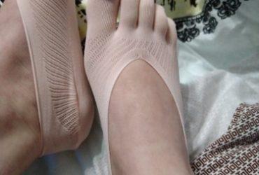 Meias De Fibra De Bambu Respirável Dedos Separados photo review