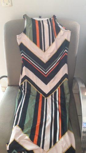 Vestido Listrado Com Fenda photo review