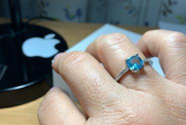 Anel Feminino Prata Cristal photo review