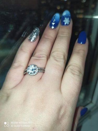 Anel Feminino de Zircônia Diamante Solitário photo review