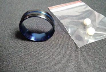 Anel Titânio Preto Azul Aço inoxidável photo review
