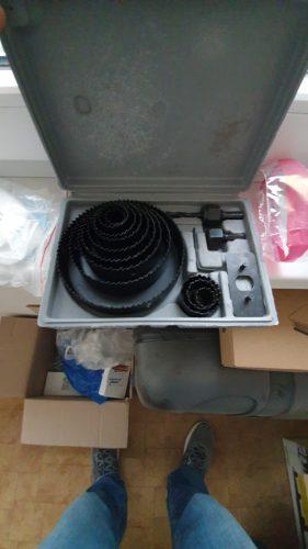 Conjunto De Serra De Buraco Para Trabalhar Madeira Para Gesso Cartonado Broca Aço Carbono 19-127mm photo review