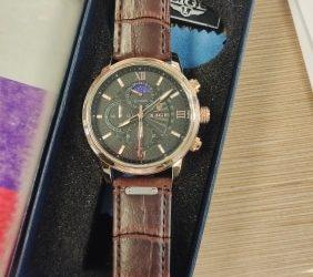 Relógio masculino de quartzo esporte masculino à prova de água, relógio quartzo masculino romano photo review